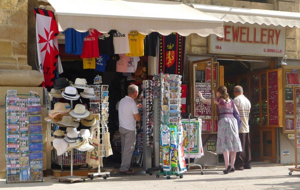 magasin de souvenir Malte