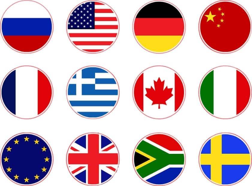 drapeaux mondiaux