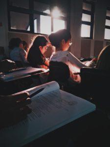 classe cours d'anglais