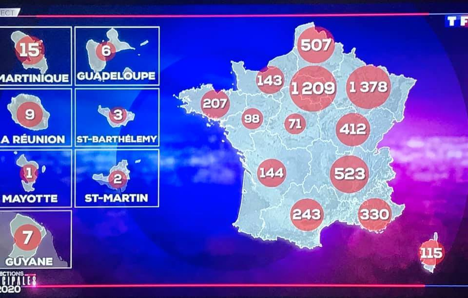Carte de France Coronavirus