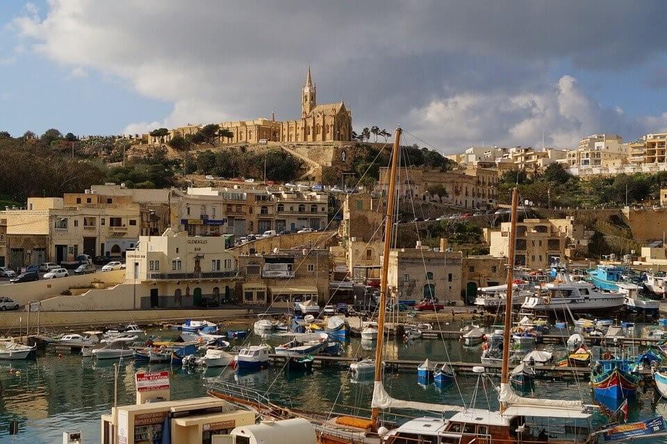 Arrivée au port de Gozo