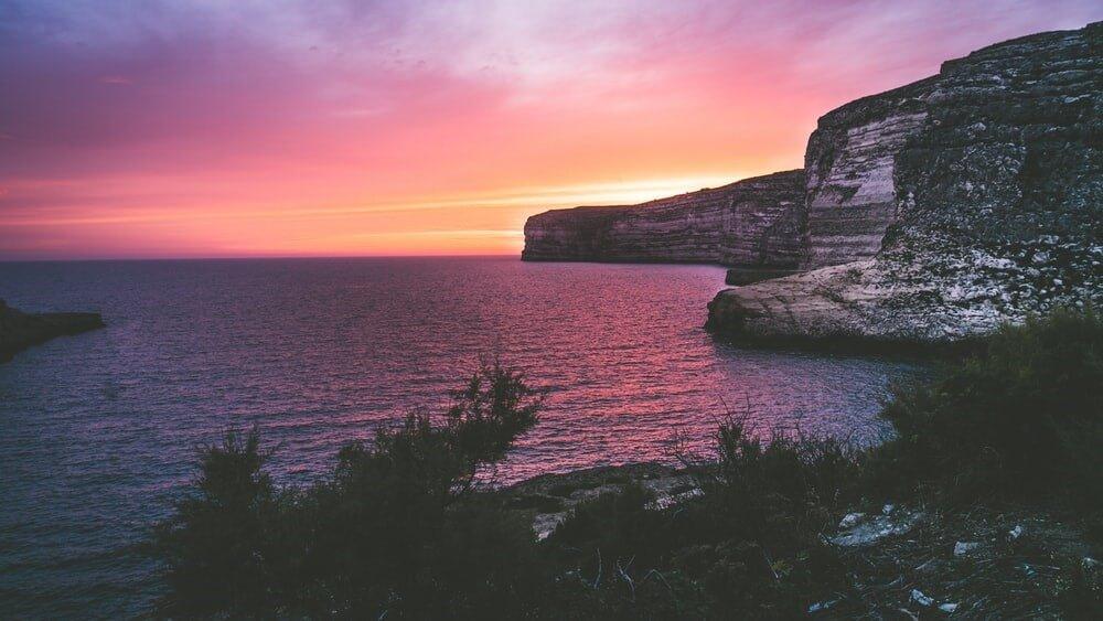 Coucher de soleil à Gozo