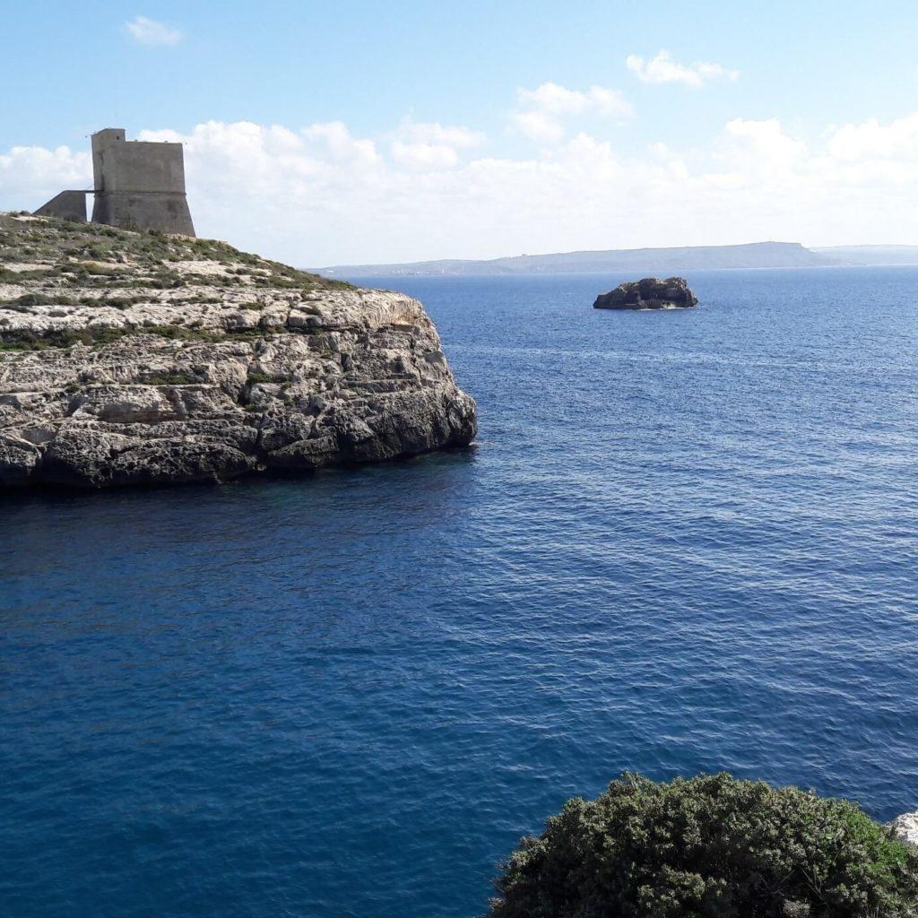 Mgarr ix-Xini sur l'île de gozo à Malte
