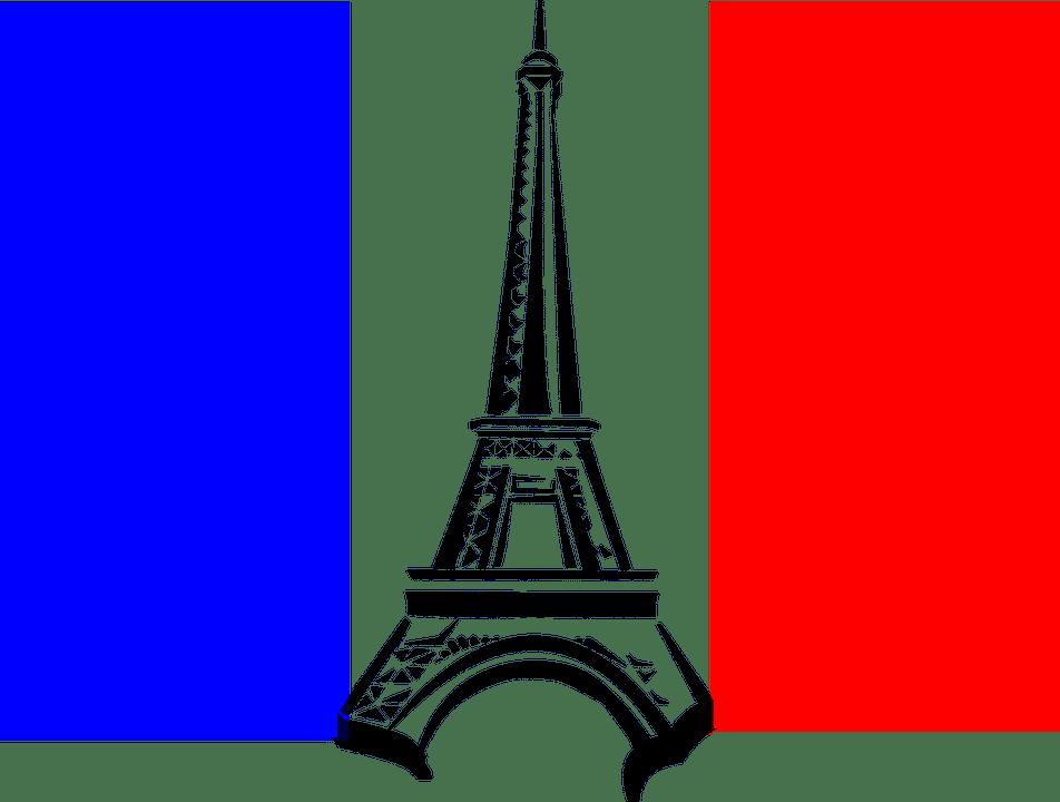drapeau français et tour eiffel