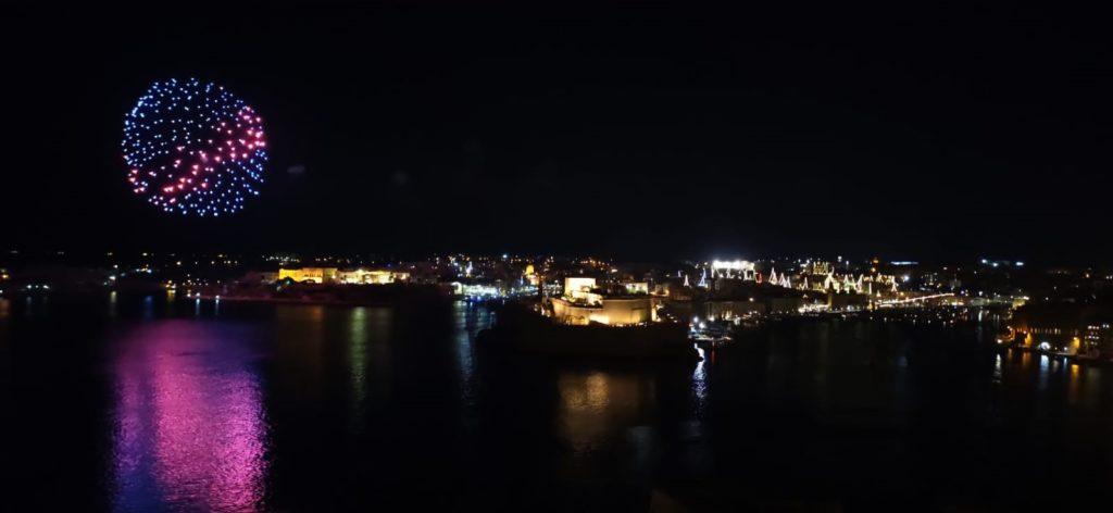 feu d'artifice à Malte