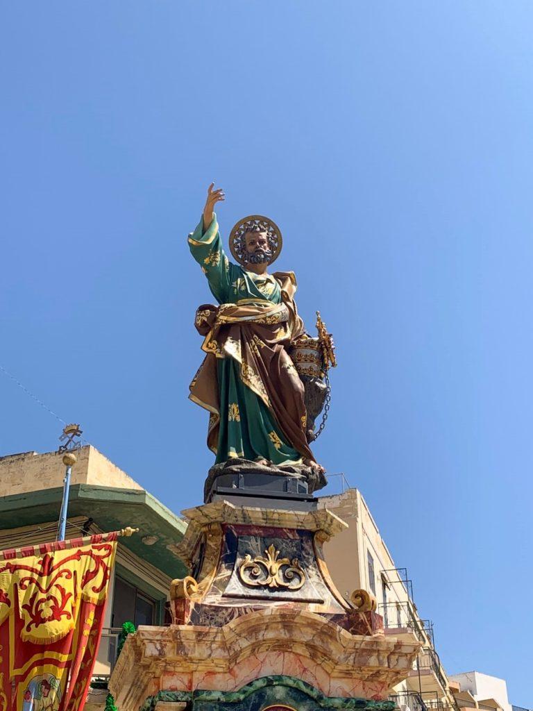 statue utilisée pendant les festas à Malte