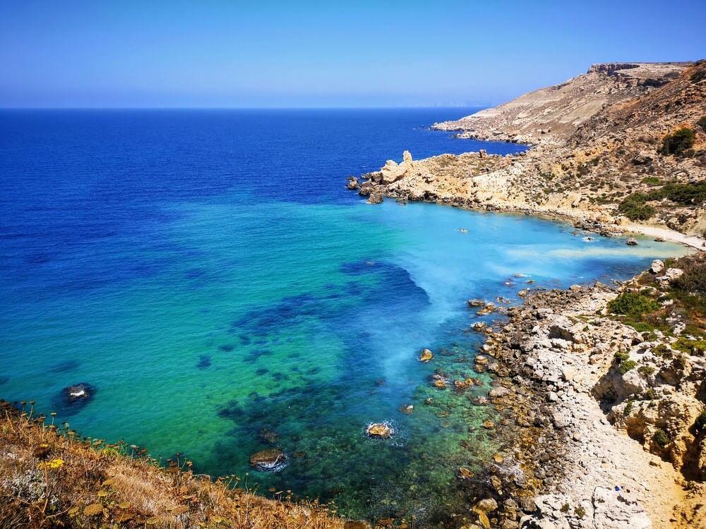 vue sur la mer à Malte