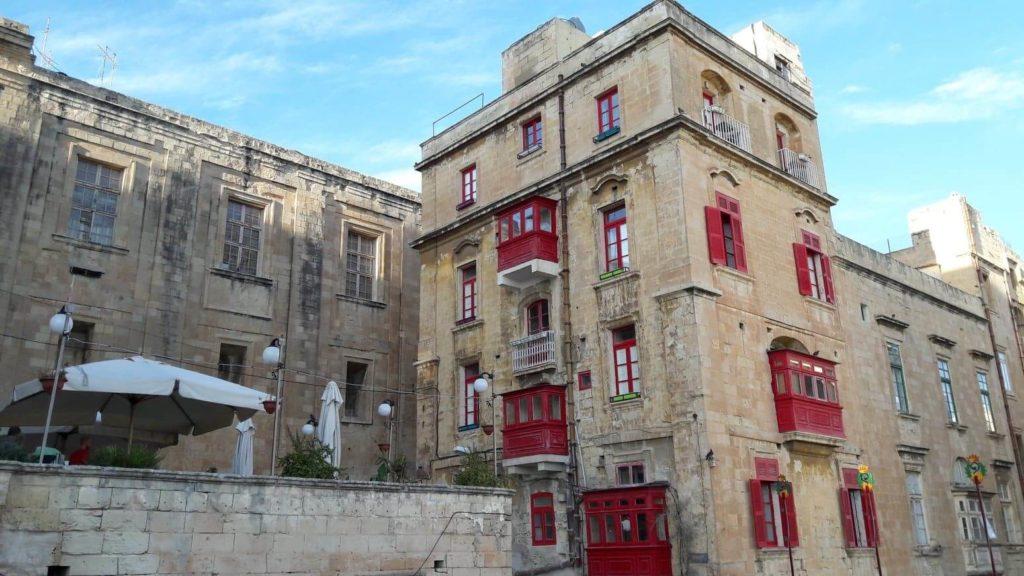 maison traditionnelle maltaise à Valletta