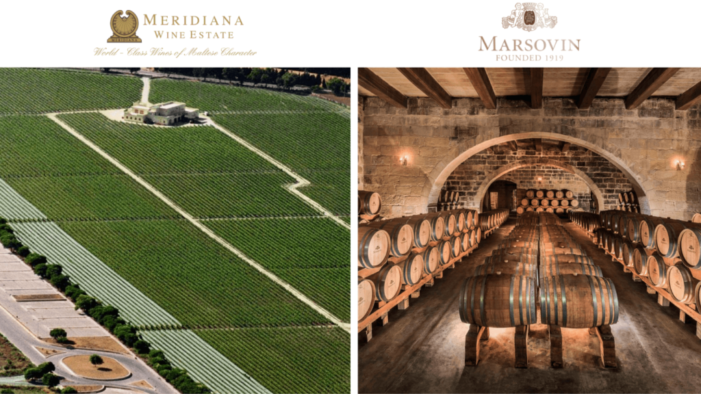 domaine viticole Meridiana et Marsovin à Malte