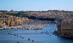 vue sur un port de Malte