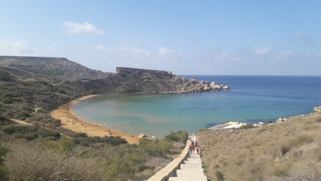 plage de Tuffieha à Malte