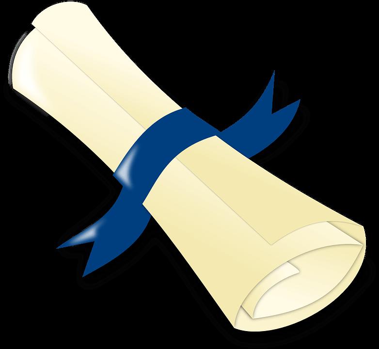dessin d'un diplôme roulé