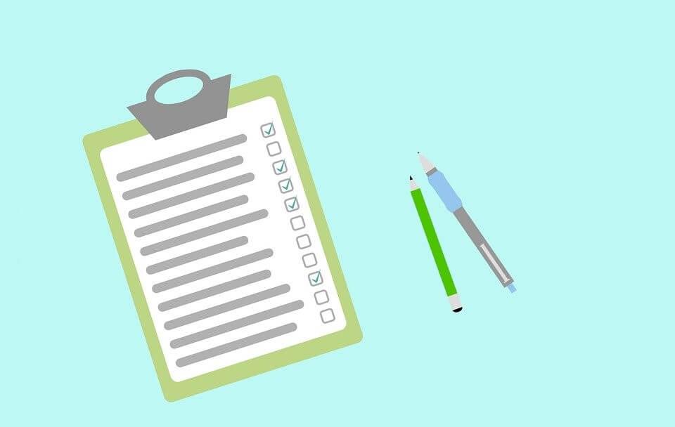 dessin d'une checklist avec des crayons