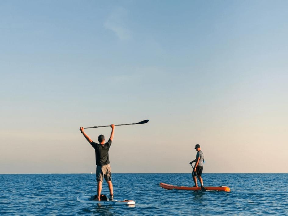 paddle sur la mer à Malte