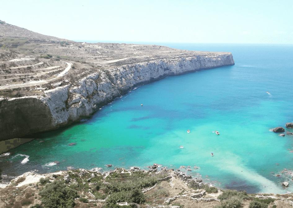 Baie turquoise à Malte