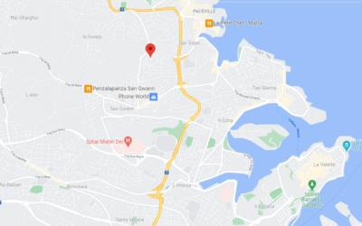 map San Gwann Malta